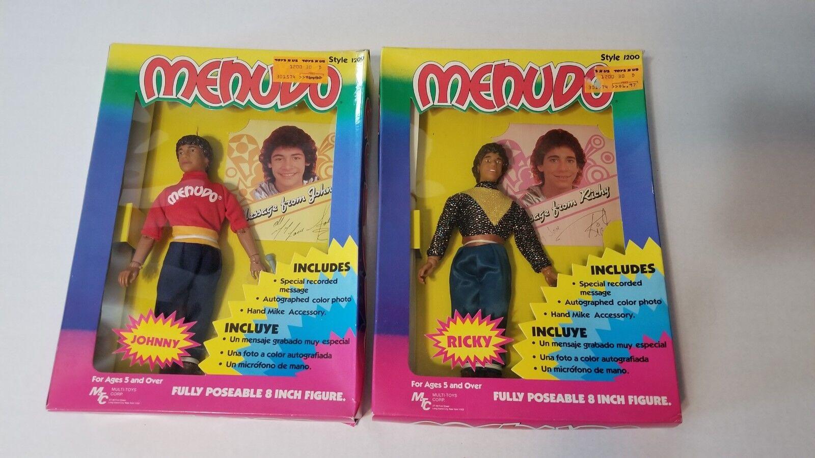 Vintage 1983 Menudo 8  Johnny & Ricky Figura Muñeca Nuevo en Caja Raro 1980 Mtc
