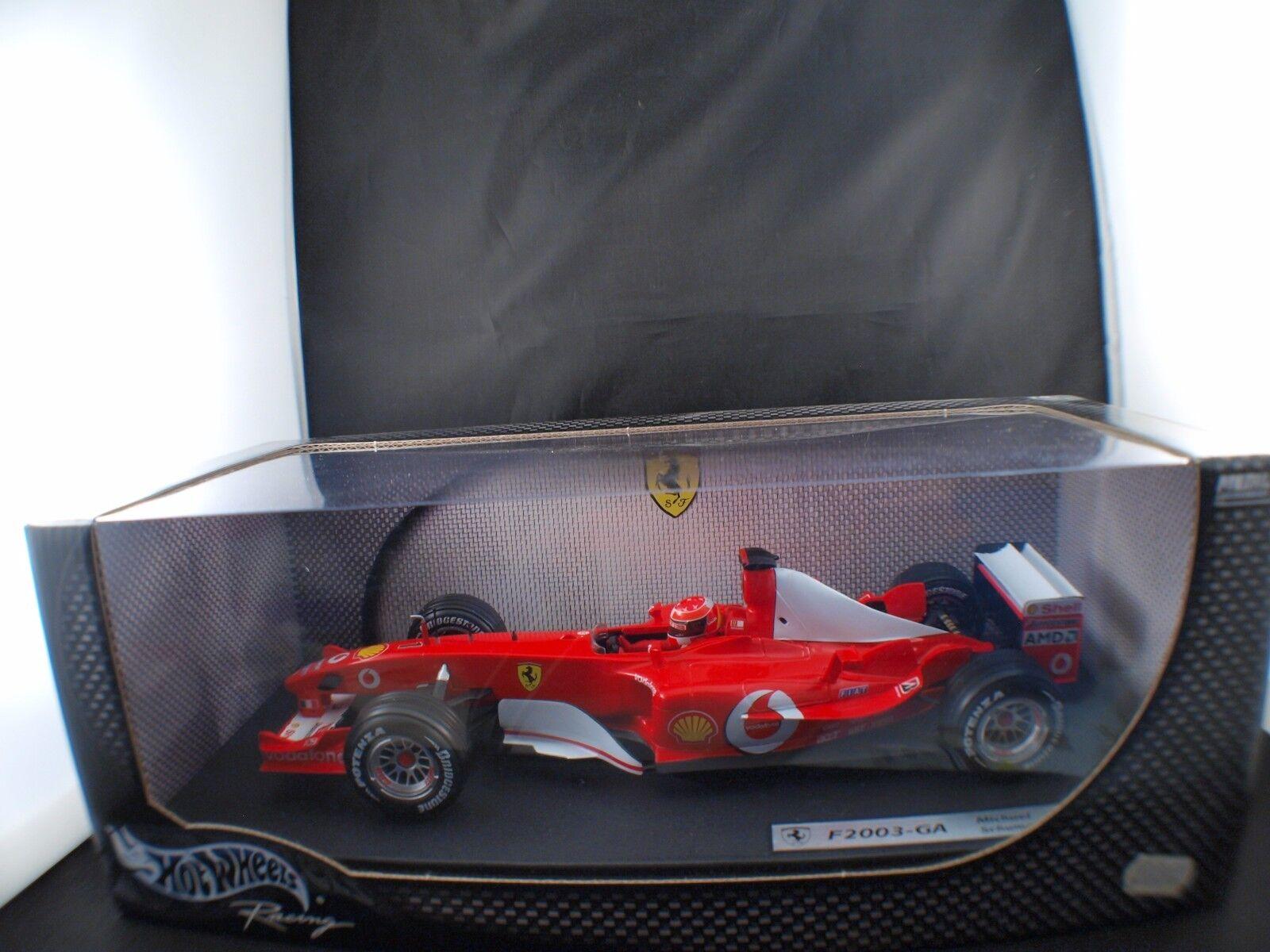 Mattel Hot Wheels M Schumacher F 2003 GA Ferrari  1 1 18 neuf boîte  Boxed MIB
