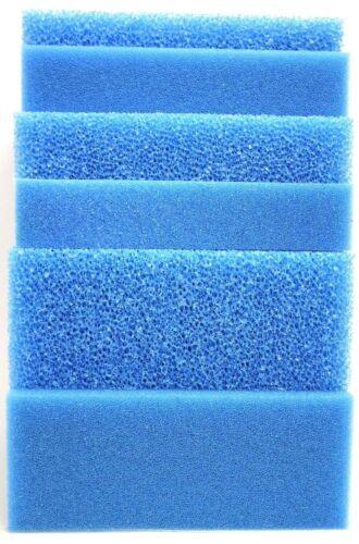 Filterschwamm Filtermatte blau 50 x 50 x 10 cm Grob//Mittel//Fein Teich Aquarium *