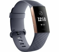 FITBIT Charge 3 - Blue Grey & Rose Gold Universal - Currys