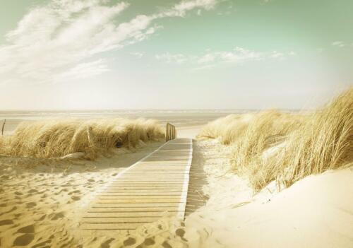 Vlies Fototapete Tapete Poster   F12320 Strand Strand Sand Sonne Meer Wasser Fer
