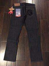 NEW BBC BILLIONAIRE BOYS CLUB Helmet Raw Selvedge Jeans Sz L (36x34) JAPAN