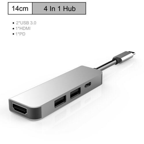 USB C 8in1 USB-C To Type-C USB Multi 3.0 HDMI RJ45 Ethernet Micro SDTF OTG Hub U