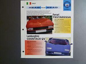 Ferrari Testarossa Vs Lamborghini Countach Qv Head To Head Imp