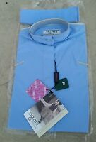 Sigma Elegance Girls $39 Long Sleeve Cotton Ratcatcher Show Shirt Light Blue