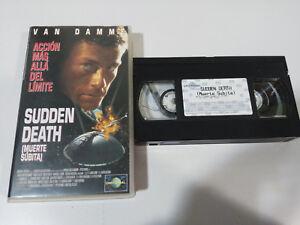 Sudden-Death-Death-Sudden-Van-Damme-VHS-Tape-Spanish