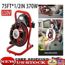 Sewer Snake Drill Drain Auger Cleaner 75x12 Electric Drain Cleaning Machine