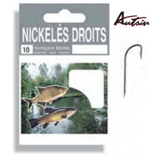 AUTAIN mounted hooks nº 16 0,12mm nickel plated rights by 10