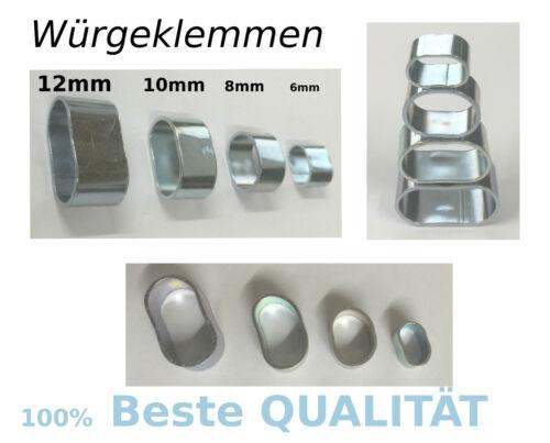 Würgeklemmen klemme Würgeklemme für 6,8,10 und 12mm für Expanderseile seile Top