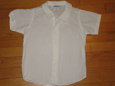 Imp Originals Inc Tops, Shirts & T-shirts Boys' Clothing (sizes 4 & Up) S/s Button Down Shirt With Piping Trim Size 6 Pure Whiteness