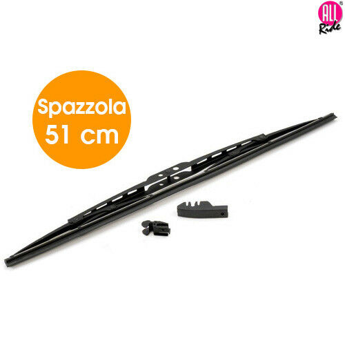 Spazzola Tergicristallo Standard Singola per Auto in Metallo e Gomma 51 cm