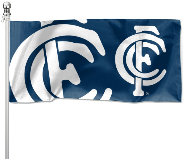 LARGE 1800x900mm Licensed AFL CARLTON BLUES LARGE Pole Flag (Pole not included)