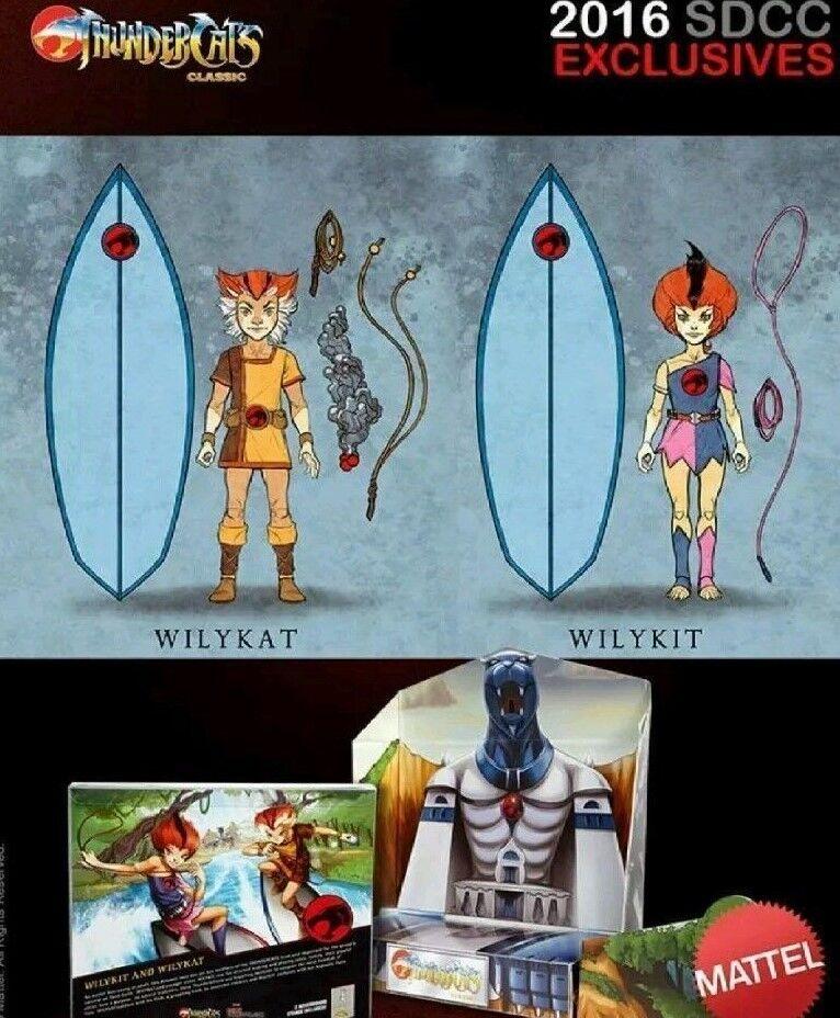 San Diego comic-con 2018 Comic Con Figuras exclusivas de Thundercats Wilykit y Wilykat
