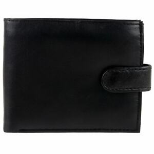 Mens-Top-Quality-Soft-Nappa-Leather-Tabbed-Wallet-by-Oakridge-Coin-Section-Blac