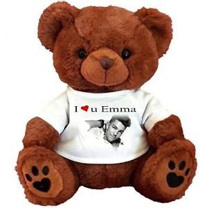 "PERSONALISED BROWN TEDDY BEAR 25CM/10"" SITTING  MATT TERRY  BIRTHDAY GIFTS"