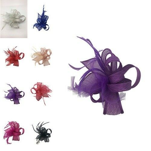 Small Ladies Day Races Royal Ascot Flower Fascinator Wedding Hat Brooch Clip UK