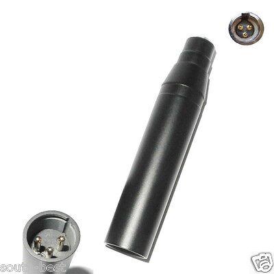 TA3F 3Pin Mini XLR Condenser Microphone to XLR 3-Pin made Phantom Power Adaptor