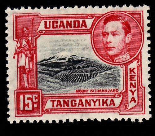 KENYA UGANDA TANGANYIKA SG137, 15c black & rosered, LH Mint. Cat 28.
