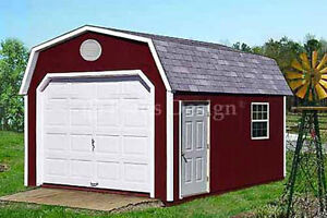 12 39 x 16 39 garage garden storage shed barn plans for Material list for garage