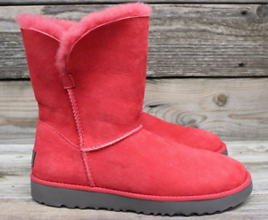 ugg australia womens classic cuff short lipstick red sheepskin boots rh ebay com
