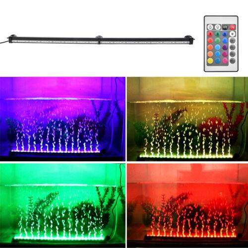 Aquarium Fish Tank Underwater Submersible Color Changing LED Air Bubble Light US