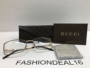8ae69950cd New GUCCI Authentic w TAGS Brown Gold SS GG4212 5N1 53mm Eyeglasses ...