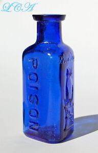 Atractivo Azul Cobalto Antiguo Con Dibujo De Bho drogas Co veneno