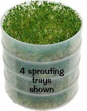 VKP 1014 Seed Sprouter: Set of 2 Add-On Sprout Trays Plant Germination Tray, New