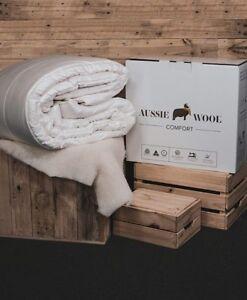 250-360-500-625-750GSM-Aussie-Wool-Comfort-Quilt-Doona-Duvet-Down-Summer-Winter