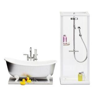 Lundby Smaland 60.2089 Bad Set Dusche - Badewanne für Puppenhaus 1 ...