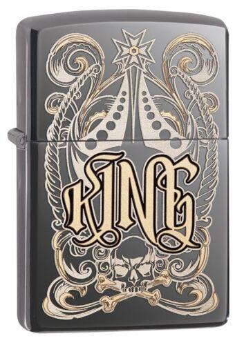 ZIPPO KING Midnight cromo con o senza set regalo 60000265