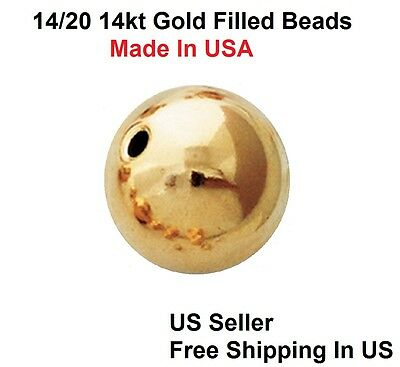 seamless 2mm Pack of 20 Gold Filled round BEADS