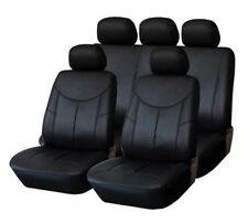 PREMIUM Kunstleder Sitzbezug Auto Bezug 2er SET VORN SCHWARZ für viele Fahrzeuge