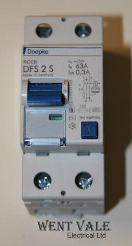 Doepke DFS 2 S 63-2//0.3-63a 300mA doppio palo RCCB NUOVO