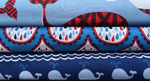 True-Blue-by-Ana-Davis-Blend-Fabrics-Blue-BUNDLE-Choose-FQ-HY-whale-ocean