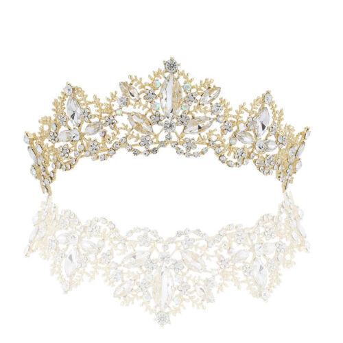Wedding Bridal Crystal Tiaras Princess Headband Crown Hair Accessories For Girls