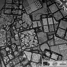 45 Design Nail Stamper Plate Set Nails Art Image Stamp Stamping Scraper Plates