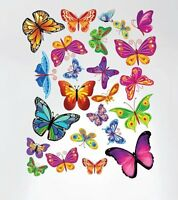 Innovative Stencils 3005 Easy Peel And Stick Colorful Butterflies Nursery Decal on sale