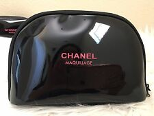 Chanel PU Patent Maquillage Cosmetic Makeup Beauty Bag Pouch Medium VIP gift