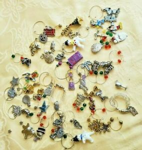 WINE-GLASS-CHARMS-MARKERS-BEACH-DISNEY-CHRISTMAS-ASSORTED-CRAFTING