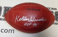 Kellen Winslow Signed Official NFL Football PSA/DNA COA Chargers HOF Game Ball
