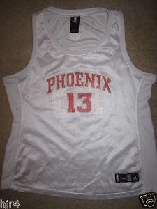 ccd0419110f Steve Nash  13 Phoenix Suns Adidas Pink NBA Jersey Womens XL