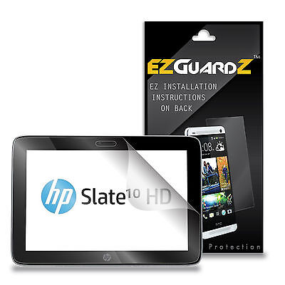 3X EZguardz Screen Protector Shield 3X For HP Slate 10 HD 3500US (Ultra Clear)