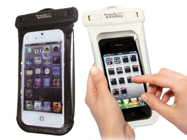 TouchAbility Waterproof Pouch Dry Bag Case For Mobile Phones, iPhone, Galaxy etc