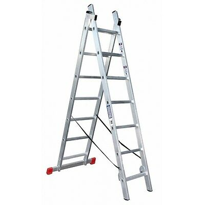 ALTIPESA Escalera andamio Profesional de Aluminio 2x7 pelda/ños Multiusos
