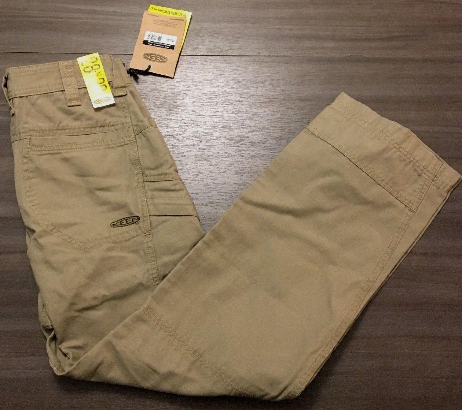 Keen Footwear Mens Newport W28 x L30 Khaki Olive Green Outdoor Hiking Pants NWT