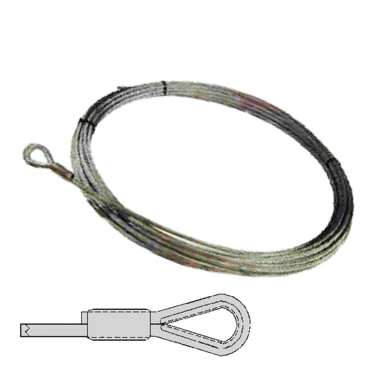 Seilbahn Seil 19x7, 41m Länge Zubehör mit Kautsche