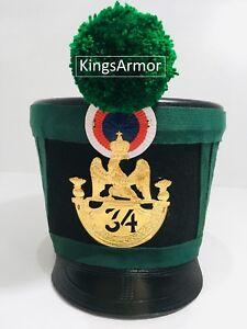 HALLOWEEN-Grenadier-Napoleonic-Spanish-French-Shako-Helmet-34-EME-X-Mas-Gift