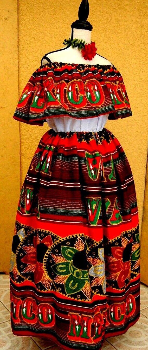 5 de Mayo Mexico dress multiFarbe folklorico Adelita Viva Mexico Sombrero 2 pc