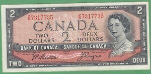 1954-Bank-of-Canada-2-Dollar-Note-Beattie-Coyne-Z-B7317735-VF